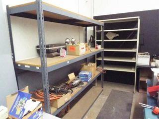 2 ea  Metal Shelves   NO CONTENTS
