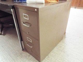 2   2 door filing cabinets