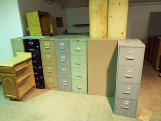 10 ea  Four drawer Metal filing cabinets