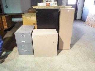 2 ea  4 drawer 2 ea 2 drawers Metal Filing cabinet