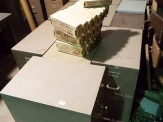 11 ea  Metal filing cabinets