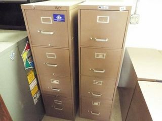 2 ea  Four drawer Metal filing cabinets