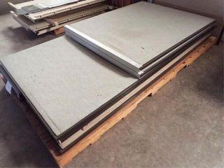 6 ea  Cloth Metal Cubicle Dividers