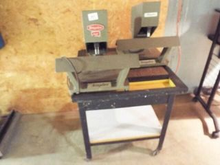 2 Ea  Staplex Electric Staplers with Rolling Stand