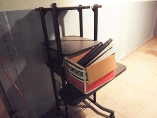 Metal Shelf on Rollers with Extension