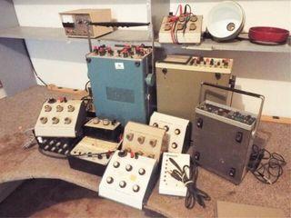 Decade Boxes  2 Oscilloscopes  Power Supply