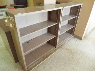 2 Metal Shelves