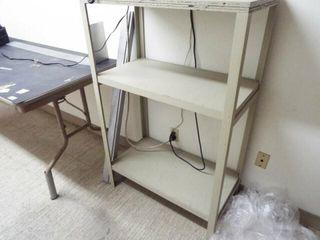 Folding Table   wooden shelf