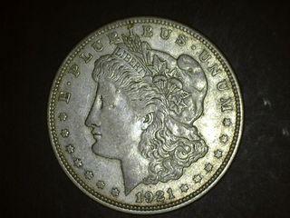1921 D Morgan Silver Dollar