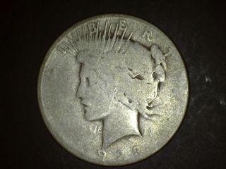1923 No Mark Peace Silver Dollar