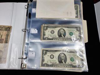 2 Dollar Bills   Shuttle Memorabilia