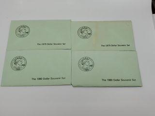 2   1980   2   1979 Dollar Souvenir Sets