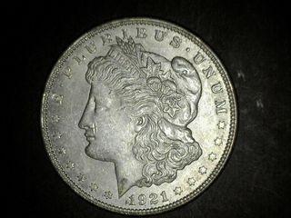 1921 No Mark Morgan Silver Dollar