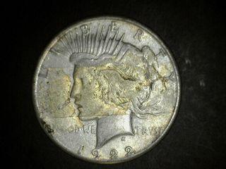 1922 No Mark Peace Silver Dollar