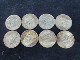 8   Silver Mexican 25 Pesos