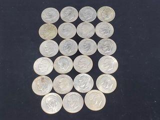 23   Eisenhower Dollars