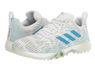 adidas Men s CODECHAOS Prime Golf Shoe  FTWR White Sharp Blue Blue Spirit  11 Medium US