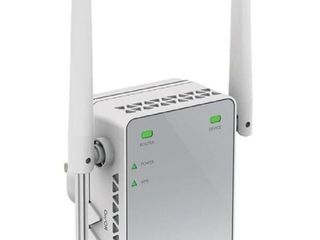 NETGEAR WiFi Range Extender EX2700   Coverage up to 800 sq ft  and 10 devices with N300 Wireless Signal Booster   Repeater  up to 300Mbps speed  and Compact Wall Plug Design