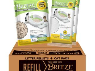 Purina Tidy Cats Cat litter Box Accessories  BREEZE Refill litter Pellets   Cat Pads Multi Cat litter   7 91 lb  Box