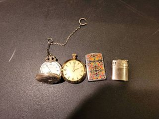 Pocket watches and lighters