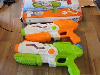 ToyerBee Water Gun for Kids  2 Pack Squirt Guns 1200CC High Capacity  30 35 Feet Shooting Range  Water Toys for Kid Adult