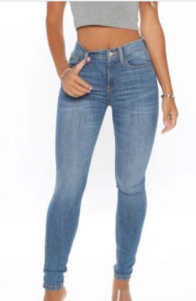 FASHION NOVA MARGOT HIGH RISE SKINNY JEANS lIGHT BlUE WASH SIZE 11