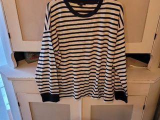 J CREW STRIPPED SHIRT SIZE l