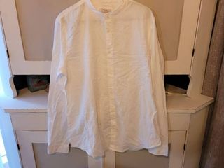 BERSHKA MEN S WHITE SHIRT SIZE l