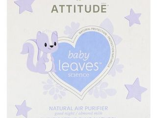 ATTITUDE Natural Air Purifier with Activated Carbon Filter  Hypoallergenic  Perfect for Baby s Room  Traps Air Pollutants  Almond Milk  8 Ounce  227 g