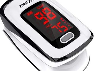 Pulse Oximeter Fingertip  Blood Oxygen Saturation Monitor  Heart Rate and SpO2 levels  large lED Display   Portable Oximeter with lanyard
