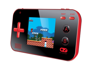 My Arcade Gamer V Portable   Handheld Gaming System   220 Retro Style Games   lightweight Compact Size   Battery Powered   Full Color Display   Volume Buttons   Red