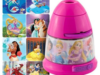 Projectables Disney Princess lED 8 Image Night light  Powered by Micro USB Plug in or Battery Operated  Moana  Cinderella  Rapunzel  Jasmine  and More  Ideal for Bedroom  Nursery  43684