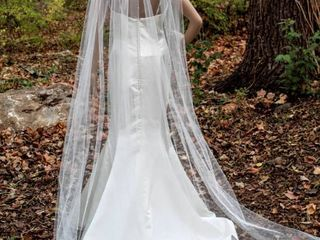 92  long Ivory Veil with Scattered Rhinestones