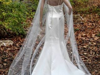 110  long Plain Ivory Cathedral Veil