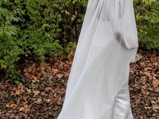 90  long Flowing Cathedral Veil Solid Ivory with Faint Speckled Rhinestones Along Entire Veil