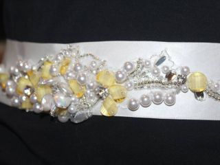 Satin Jeweled Bridal Belt  90 inches long