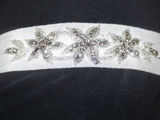 Star Rhinestone Jeweled Wrap Bridal Belt  Off White 120  long