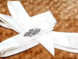 Ivory Satin Rhinestone Bridal Wrap Belt Style Number B068 measures 148  long