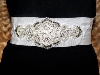 Gorgeous Thick Ivory Embellished Bridal Belt Sash 72  long