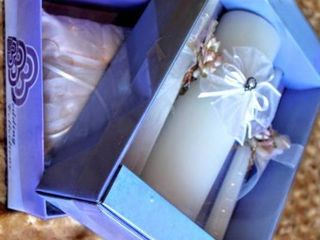 BB Collections Boxed Wedding Unity Candle Set and Bridal Ring Bearer Pillow