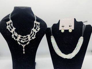 2 Beautiful Necklaces and a Pair of Earrings