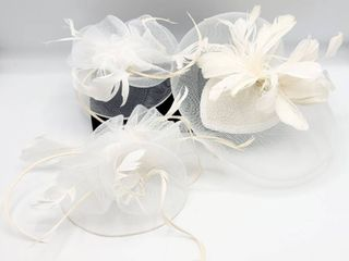 3 Bridal Hair Clip Hairpieces Hats