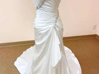 Impression Bridal Size 12 Wedding Gown White with Silver