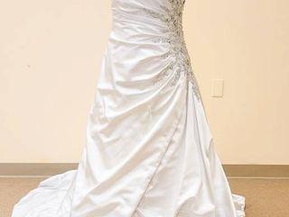 Impression Bridal Size 12 Designer Strapless Bridal Gown   Color  Antique