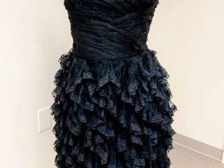 Pronovias Size 12 Designer Black lace Cocktail Dress