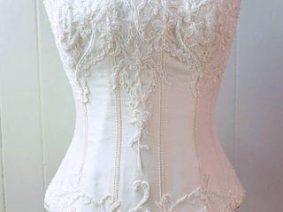 San Patrick Size 10 Off White Bridal Separates Bustier Top