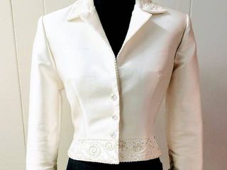 St  Patrick Size 10 White Designer Wedding Bridal Jacket Coat