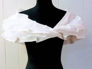 Jasmine Haute Couture Size 10 Ivory Designer Wedding Bridal Bolero Shrug