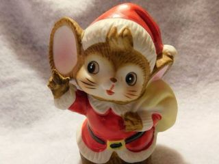 Vintage Porcelain Santa Mouse