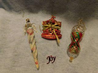 lot of 4 cHristmas Ornaments Angel   Carousel